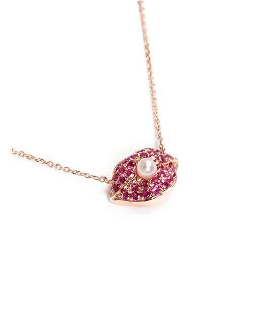 Bao Bao Wan | Red Diamond Ruby Lips Necklace | Lyst