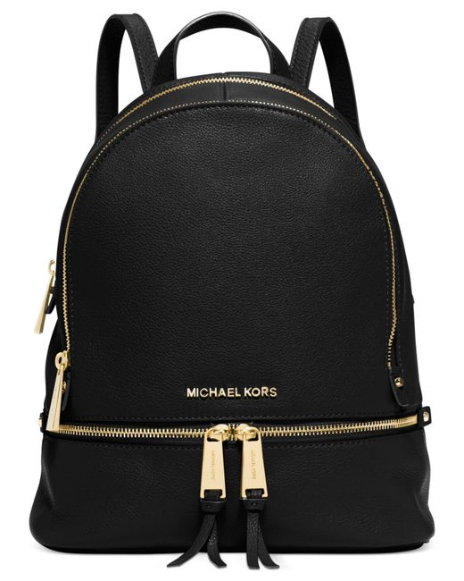 Michael Kors | Black Rhea Zip Small Backpack | Lyst