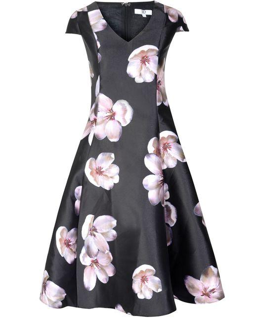 True Decadence | Black Floral Printed Prom Dress | Lyst