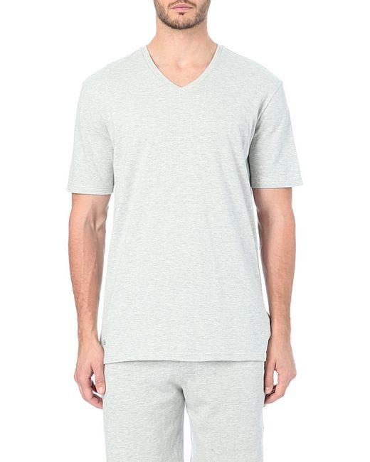 Lacoste | Gray V-neck Jersey T-shirt, Men's, Size: M, Grey for Men | Lyst