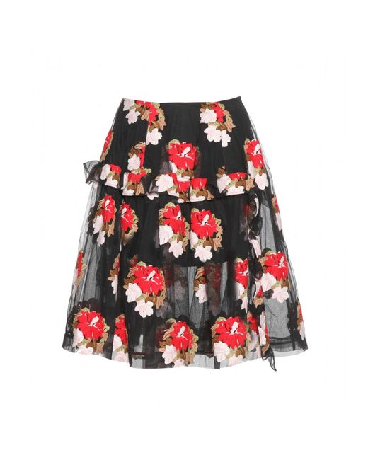 Simone Rocha | Embroidered Tulle Skirt | Lyst