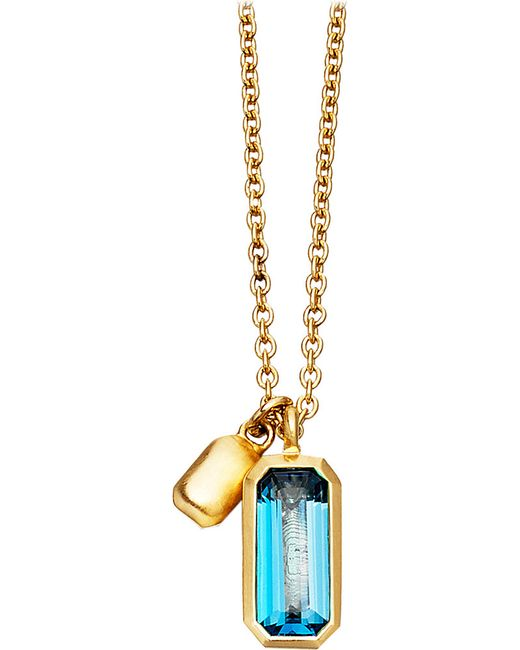 Astley Clarke | 18ct Gold Vermeil Blue Topaz Necklace | Lyst