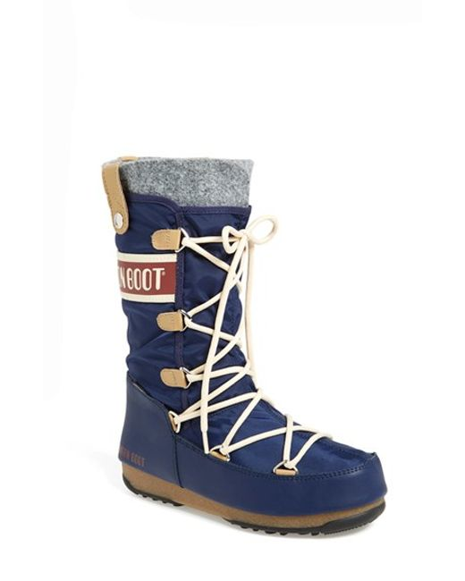 tecnica monaco water resistant moon boots in blue lyst. Black Bedroom Furniture Sets. Home Design Ideas