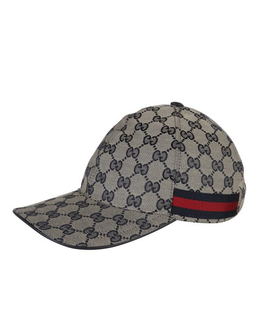 gucci original gg canvas baseball hat with web in gold for