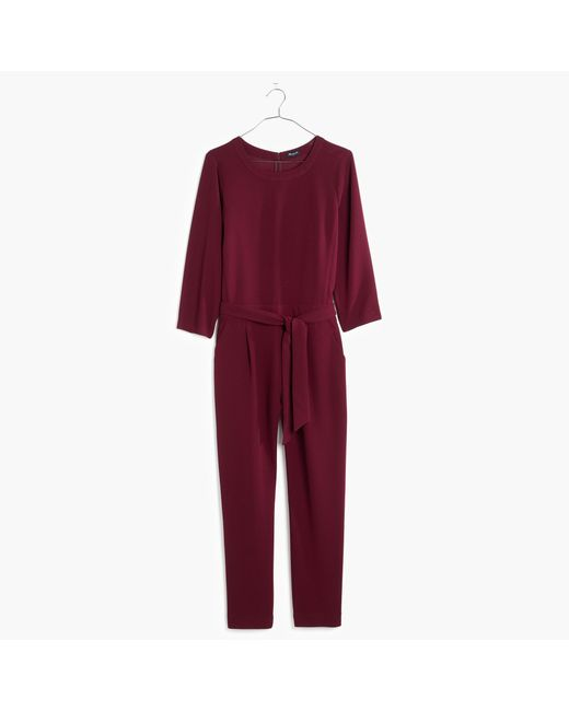 Madewell | Red Sloan Jumpsuit | Lyst