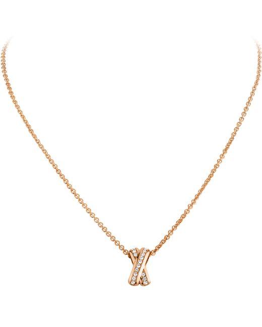Dyrberg/Kern | Pink Dyrberg/kern Cross Diamante Pendant Necklace | Lyst
