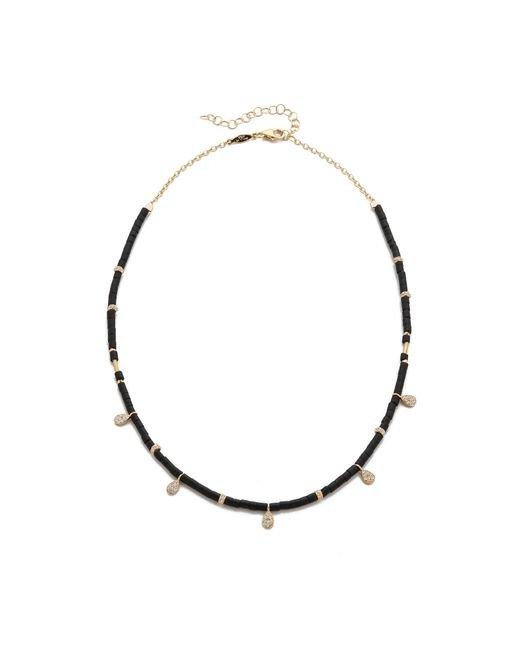 Jacquie Aiche | Black Ja Teardrop Charm Beaded Choker Necklace | Lyst