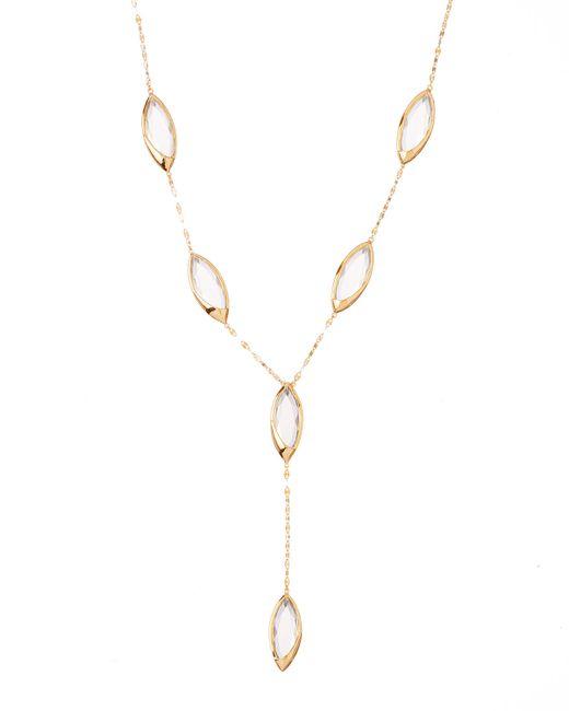 Lana Jewelry | Metallic 14k Elite Jetset Marquise Crystal Lariat Necklace | Lyst
