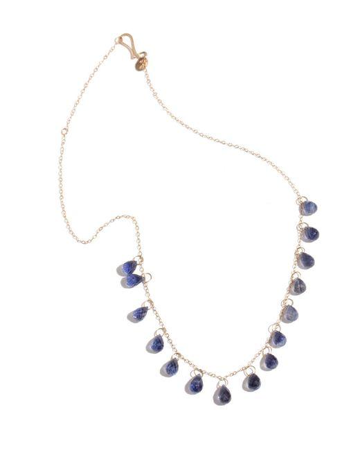 "Melissa Joy Manning | Blue 18"" Necklace With 15 Single Drop Iolite Briolettes | Lyst"