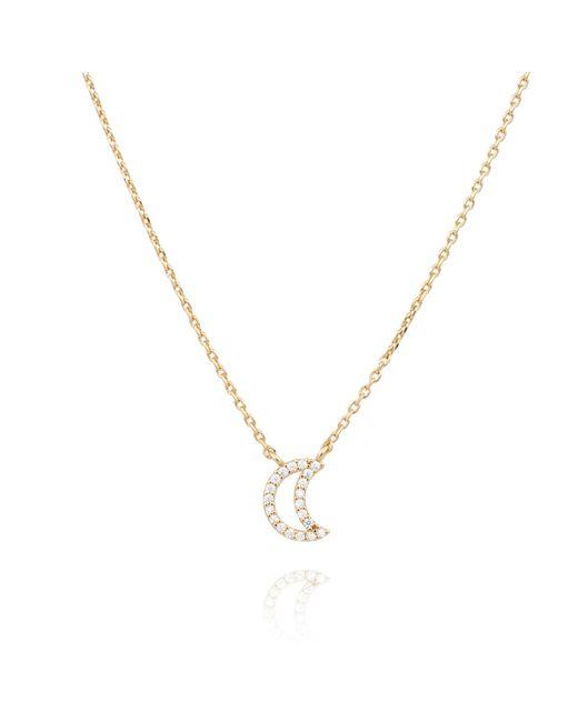 Astrid & Miyu | Metallic Rose Gold New Tricks Moon Necklace | Lyst