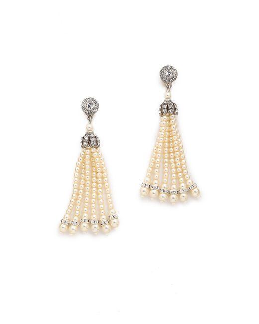 Ben-Amun | Metallic Imitation Pearl Tassel Earrings | Lyst