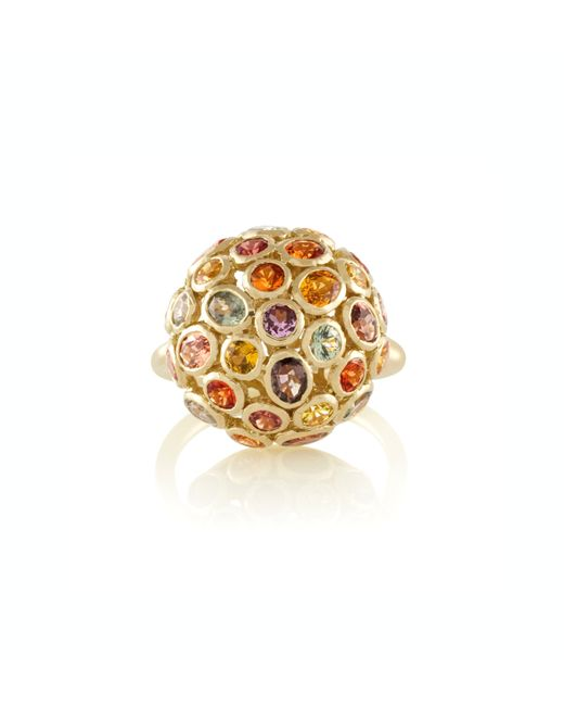 Emily & Ashley | Yellow 18k Gold and Sapphire Dome Ring | Lyst
