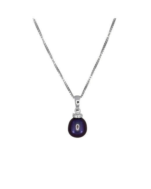 Azendi | Metallic Peacock Pearl Pendant With Pavé Ring | Lyst