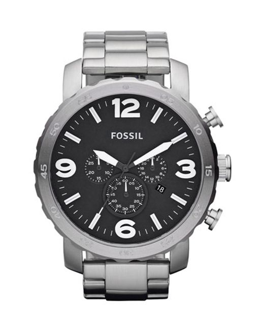 Fossil | Metallic 'nate' Chronograph Bracelet Watch for Men | Lyst