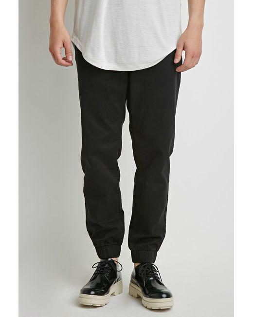 Forever 21 | Black Zip-pocket Chino Joggers for Men | Lyst