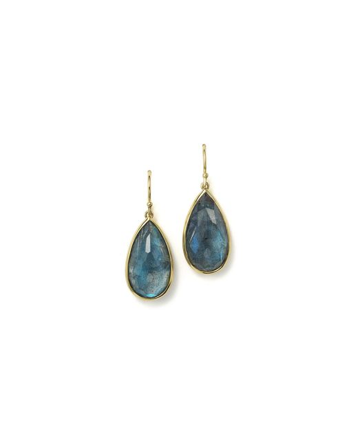 Ippolita | 18k Gold Rock Candy Medium Teardrop Earrings In London Blue Topaz And Labradorite Doublet | Lyst