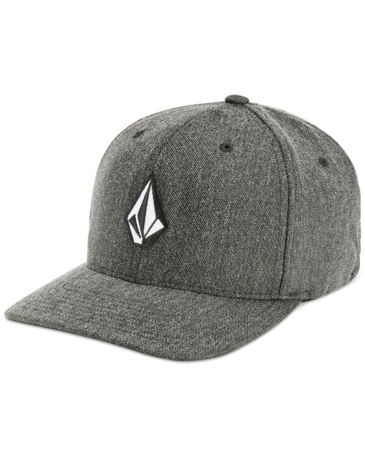 Volcom | Gray Flex-fit Heathered Logo Hat for Men | Lyst