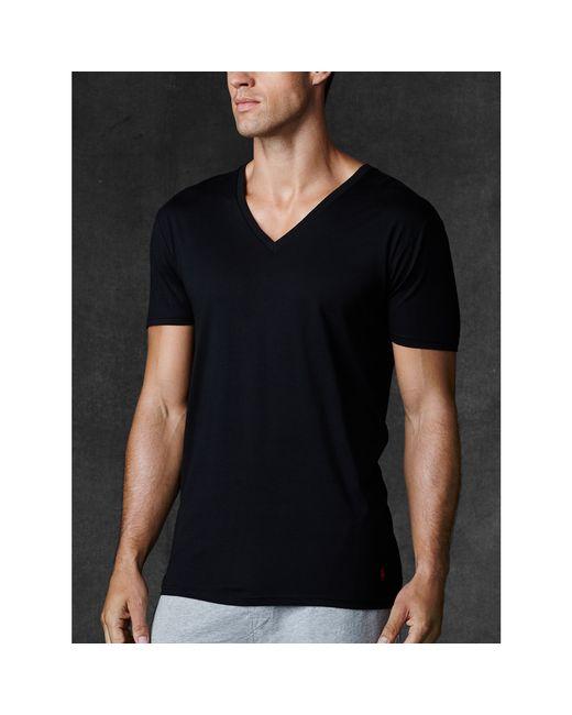Polo Ralph Lauren | Black Supreme Comfort V-neck 2 Pack for Men | Lyst