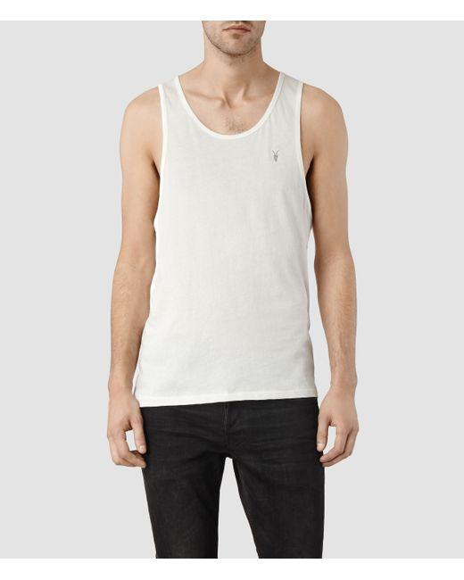 AllSaints | White Tonic Vest for Men | Lyst