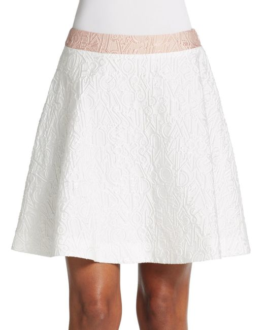 katrantzou alphabet jacquard a line skirt in white lyst