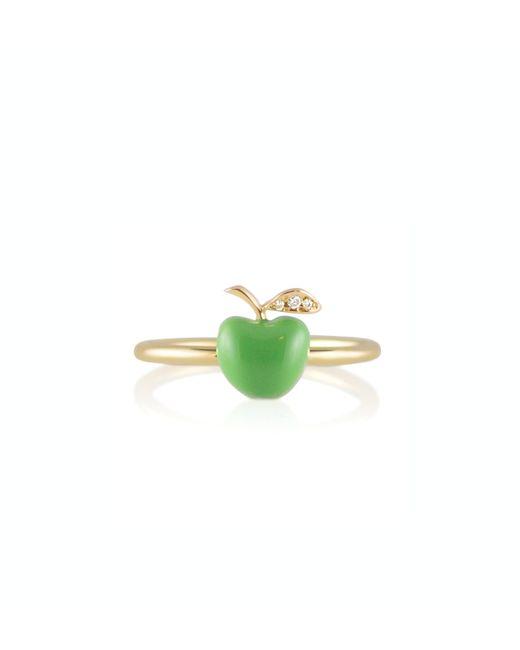 Alison Lou | 14k Green Apple Ring | Lyst