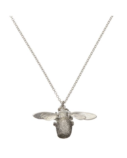 Alex Monroe | Metallic Sterling Silver Long Chain Bee Pendant | Lyst