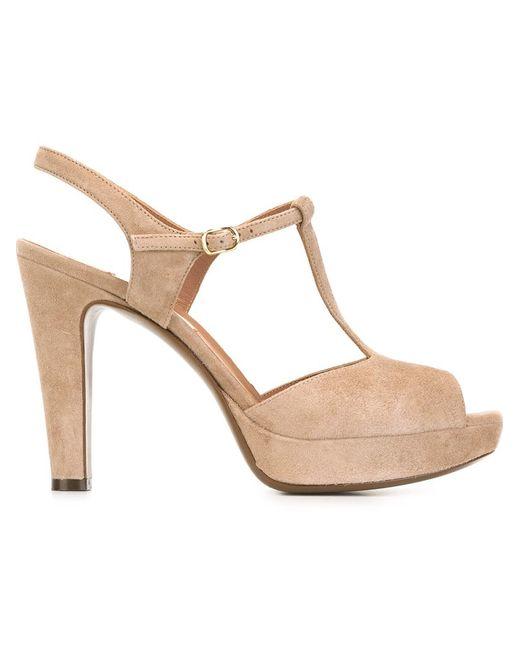l autre chose platform t bar sandals in beige