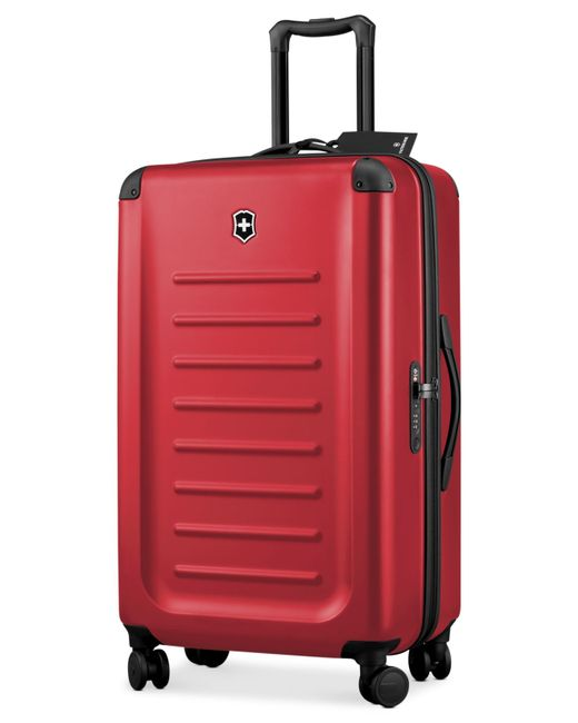 "Victorinox | Red Victorinox Spectra 2.0 32"" Hardside Spinner Suitcase for Men 