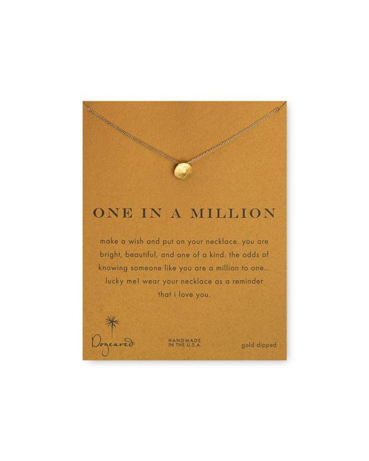 Dogeared | Metallic One In A Million Pendant Necklace, 18"