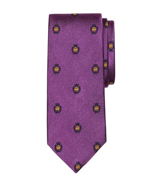 Brooks Brothers | Purple Golden Fleece® Crest Tie for Men | Lyst