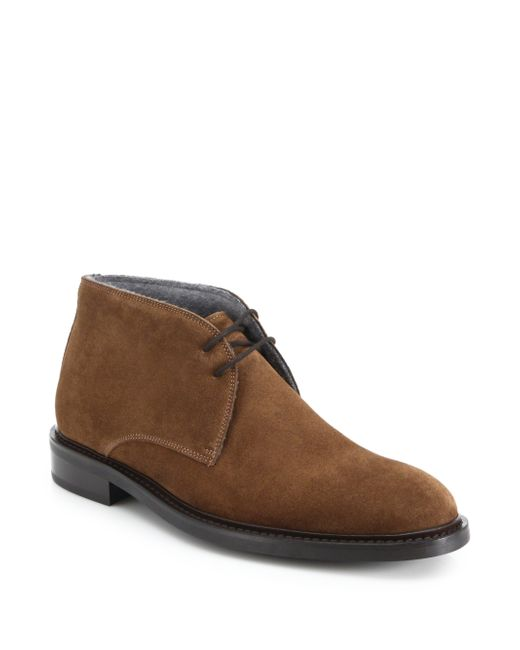 To Boot | Brown Brewer Suede Chukka Boots for Men | Lyst
