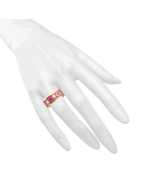 Marc By Marc Jacobs | Pink Logo Disc-o Band Ring | Lyst