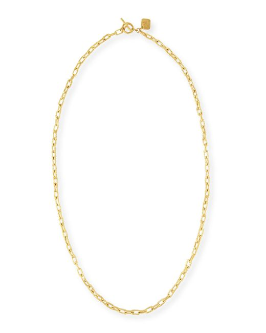 Ashley Pittman | Metallic Hammered Bronze Toggle Chain Necklace | Lyst