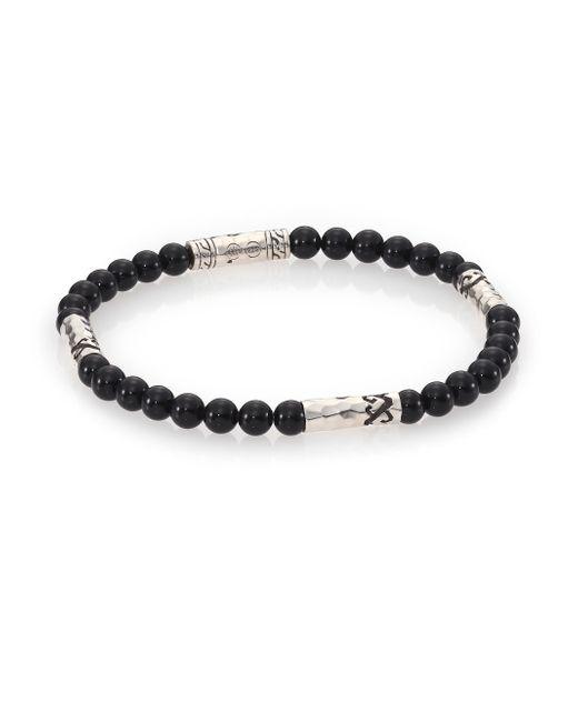 John Hardy | Mult-station Black Onyx Bracelet for Men | Lyst