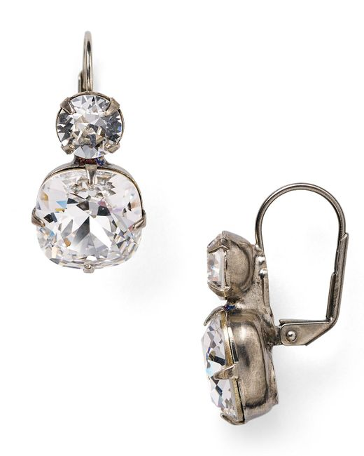 Sorrelli | Metallic Crystal Drop Earrings | Lyst
