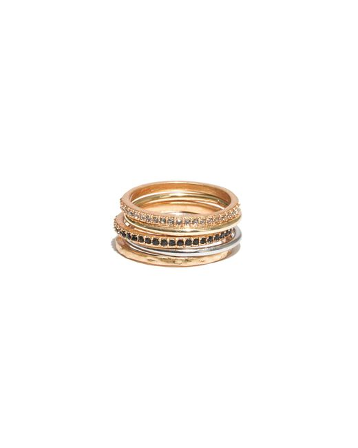 Madewell | Metallic Filament Stacking Rings | Lyst