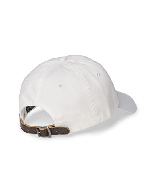 polo ralph lauren chino sports cap in white for men save. Black Bedroom Furniture Sets. Home Design Ideas