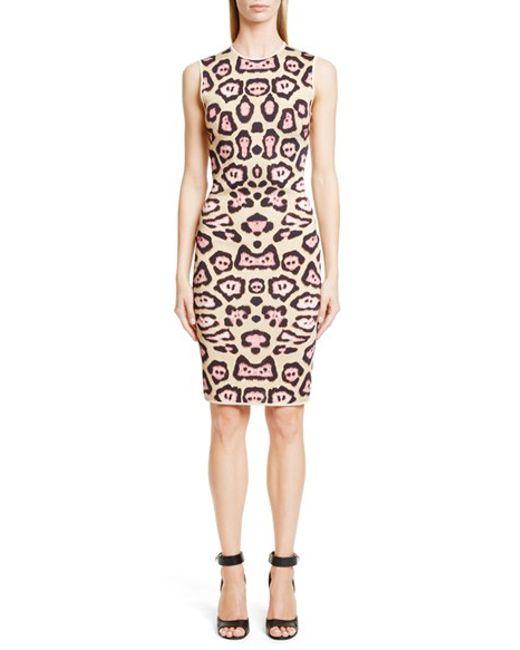 Givenchy | Natural Jaguar-print Punto Milano Dress | Lyst
