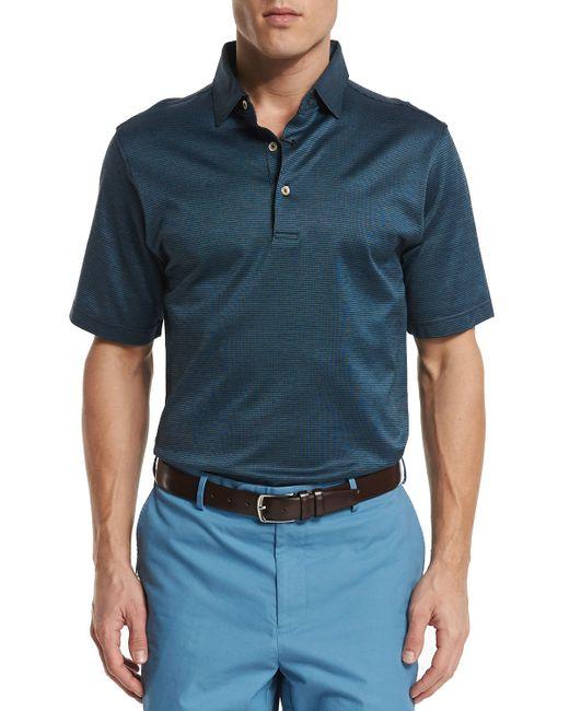 Peter millar von striped jacquard short sleeve polo shirt for Peter millar polo shirts