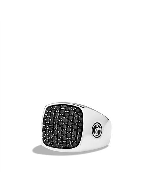 David Yurman | Pavé Signet Ring with Black Diamonds for Men | Lyst