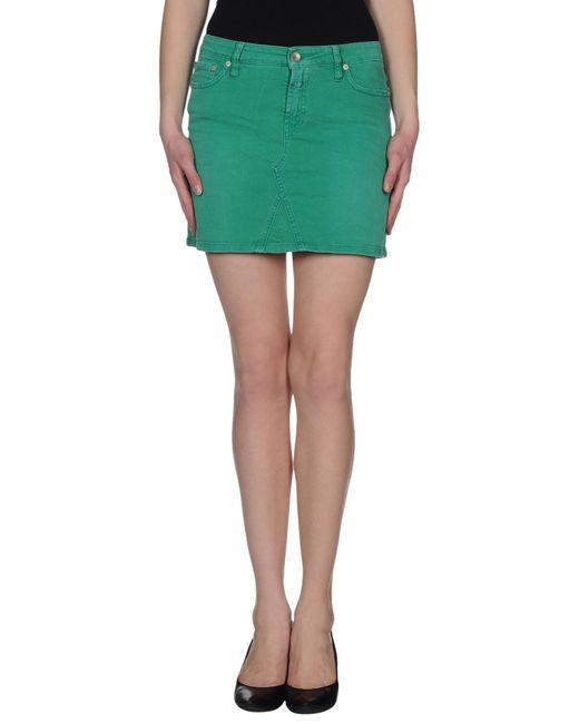closed denim skirt in green save 65 lyst