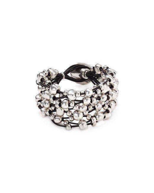 Uno De 50 | Metallic Beaded Toggle Bracelet | Lyst