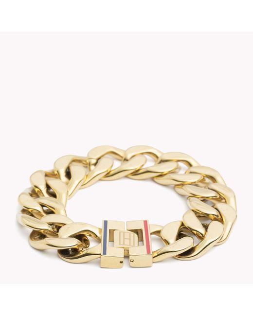 Tommy Hilfiger | Metallic Chain Bracelet | Lyst