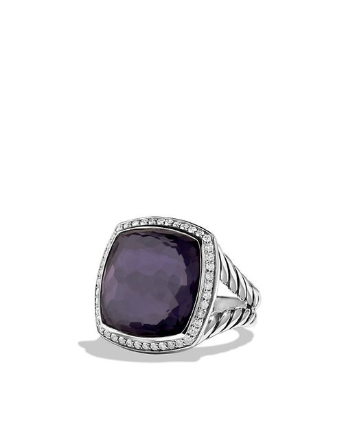 David Yurman | Purple Albion Ring With Black Orchid And Diamonds, 17mm | Lyst