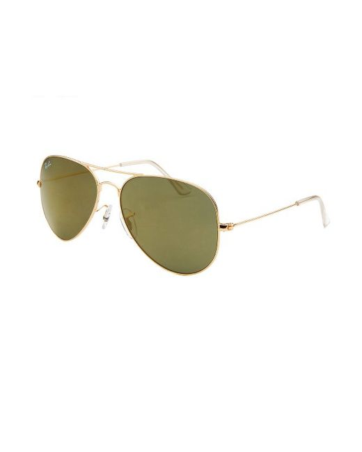 30468a6830 Gold Ray Bans Aviator Green Lenses Sunglasses « Heritage Malta