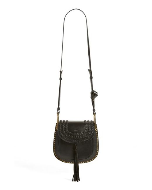 chlo hudson small studded cross body bag in black lyst. Black Bedroom Furniture Sets. Home Design Ideas