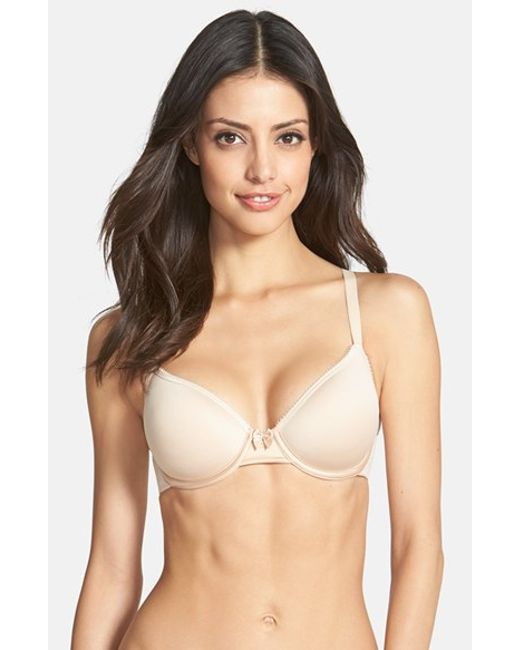 Wacoal | Natural 'halo Lace Comfort Back' Underwire Spacer T-shirt Bra | Lyst