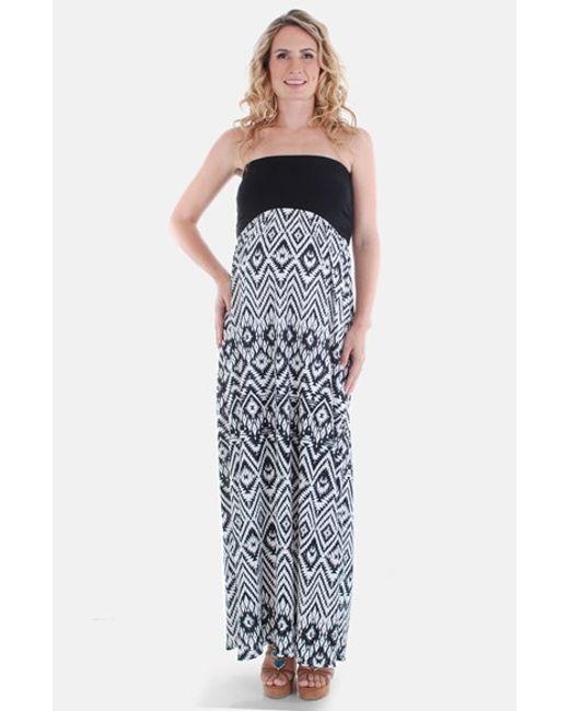Everly Grey   Black 'grace' Strapless Maternity Dress   Lyst