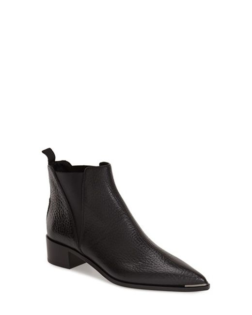 acne black jensen ankle boot in blue save 54 lyst. Black Bedroom Furniture Sets. Home Design Ideas