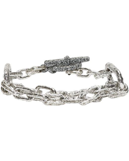 Pearls Before Swine | Metallic Silver Link Bracelet | Lyst